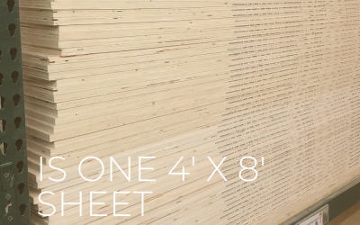 How Many Pieces Come From A 4′ x 8′ Sheet?