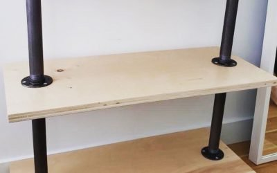 How to build DIY wood shelves with plywood!