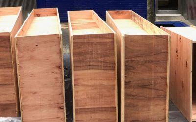 Custom Plywood Planter Boxes